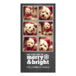 Instagram Holiday Chalkboard Photo Collage Photo Greeting Card
