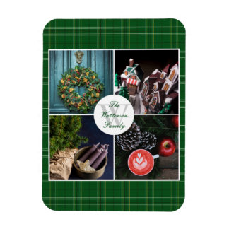 Instagram Hygge Christmas Personalized Photo Grid Rectangular Photo Magnet