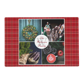 Instagram Hygge Christmas Seasonal Photo Collage Placemat