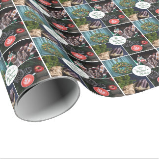Instagram Hygge Christmas Seasonal Photos Monogram Wrapping Paper