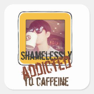 instagram idea coffee lover square sticker