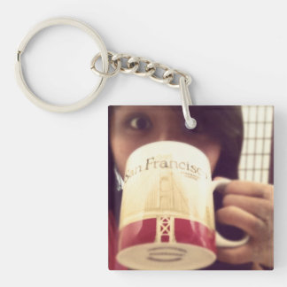 instagram keyrings Double-Sided square acrylic keychain