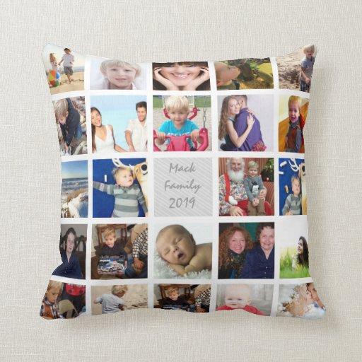 Instagram Modern Stylized Your Photos Pillow Zazzle