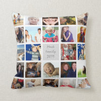 Instagram Modern Stylized Your Photos Pillow