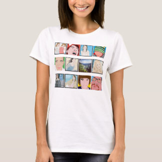 Instagram Mosaic Photo Personalized Ladies Apparel T-Shirt