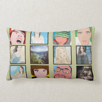 Instagram Mosaic Photo Personalized Pillow