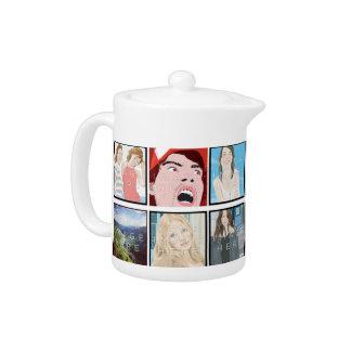 Instagram Mosaic Photo Personalized Teapot