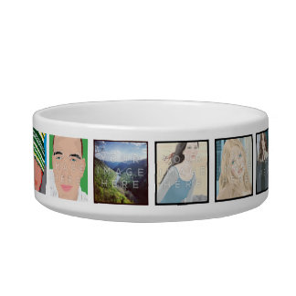 Instagram Personalized Mosaic Photo Pet Bowl