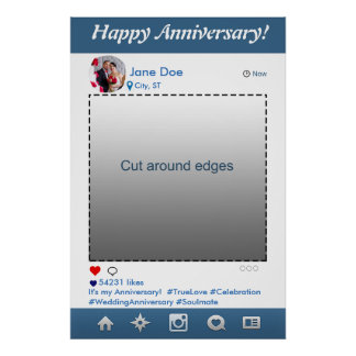Instagram Photo Booth Party Prop Frame Anniversary Poster