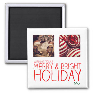 instagram photo christmas 2 inch square magnet