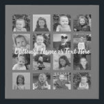 "Instagram Photo Collage - 16 photos Can Edit Color Faux Canvas Print<br><div class=""desc"">A design with a basic background. Use up to sixteen square photos to create a unique and personal birthday party memento. If you need to adjust the pictures,  click on the customize tool to make changes.</div>"