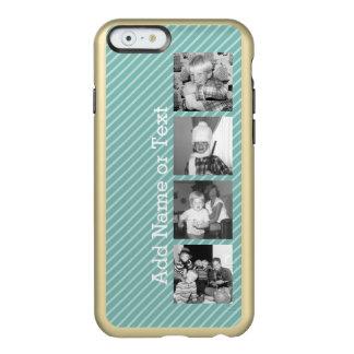 Instagram Photo Collage 4 pictures - blue stripes Incipio Feather Shine iPhone 6 Case