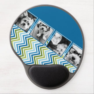 Instagram Photo Collage Colorful Chevrons Gel Mouse Pad