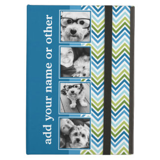Instagram Photo Collage Colorful Chevrons iPad Air Cases