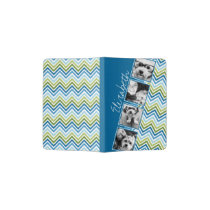 Instagram Photo Collage Colorful Chevrons Passport Holder