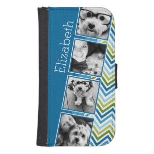 Instagram Photo Collage Colorful Chevrons Phone Wallet