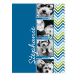 Instagram Photo Collage Colorful Chevrons Postcards