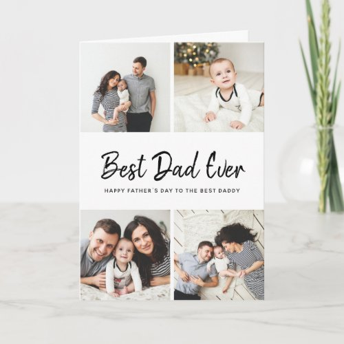 Instagram Photo Collage Fathers Day Card for Dad