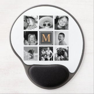 Instagram Photo Collage Monogram Custom Gel Mouse Pad