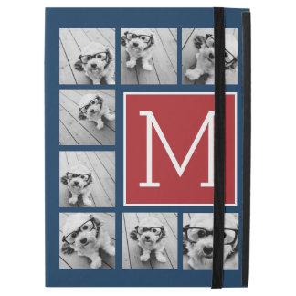 Instagram Photo Collage Monograms - Red Navy iPad Pro Case