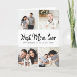 """Instagram Photo Collage Mother's Day Card for Mom<br><div class=""""desc"""">Affordable custom printed Mother's Day card personalized with your photos and text. This modern minimalist design features a photo collage layout for 4 square Instagram photos and handwritten style script that reads """"Best Mom Ever - Happy Mother's Day to the Best Mommy"""" or you can customize it with your own...</div>"""