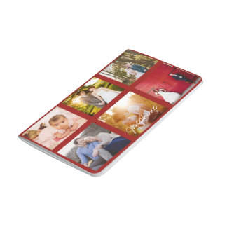 Instagram Photo Collage Notebook - Red