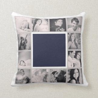 Instagram Photo Collage Throw Pillow