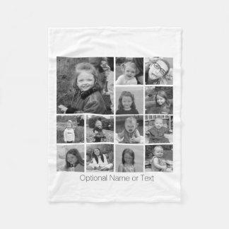Instagram Photo Collage - Up to 13 photos White Fleece Blanket