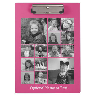 Instagram Photo Collage - Up to 14 photos Pink Clipboard