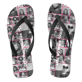 Instagram Photo Collage - Up to 14 photos Pink Flip Flops
