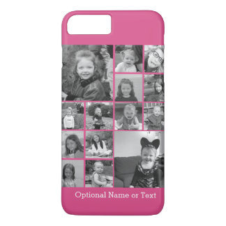 Instagram Photo Collage - Up to 14 photos Pink iPhone 8 Plus/7 Plus Case