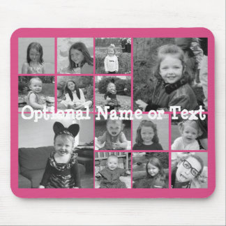 Instagram Photo Collage - Up to 14 photos Pink Mouse Pad