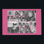 """Instagram Photo Collage - Up to 14 photos Pink Placemat<br><div class=""""desc"""">A design with a colorful background. Use up to fourteen square photos to create a unique and personal gift. If you need to adjust the pictures,  click on the customize tool to make changes.</div>"""
