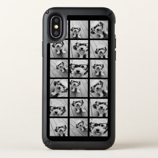 Instagram Photo Collage - Up to 18 photos Black Speck iPhone X Case