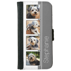 Instagram Photo Collage Using Lo Fi Frames iPhone 6/6s Wallet Case at Zazzle