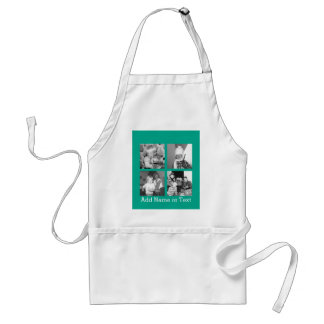 Instagram Photo Collage with 4 pictures - emerald Adult Apron