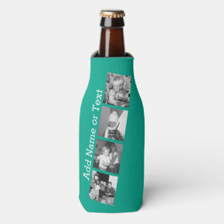 Instagram Photo Collage with 4 pictures - emerald Bottle Cooler