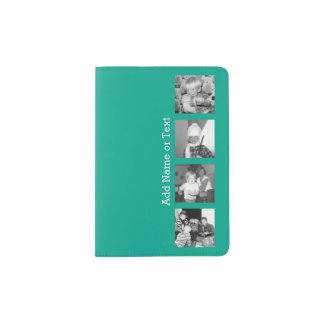 Instagram Photo Collage with 4 pictures - emerald Passport Holder