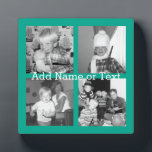 "Instagram Photo Collage with 4 pictures - emerald Plaque<br><div class=""desc"">Use four square photos to create a unique and personal gift. Or you can keep the hipster puppy and make a trendy keepsake. If you need to adjust the pictures,  click on the customize tool to make changes.</div>"