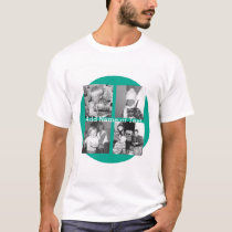 Instagram Photo Collage with 4 pictures - emerald T-Shirt
