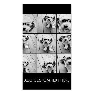 Instagram Photo Collage with 9 photos Double-Sided Standard Business Cards (Pack Of 100)