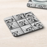 Instagram Photo Collage with 9 square photos Beverage Coaster