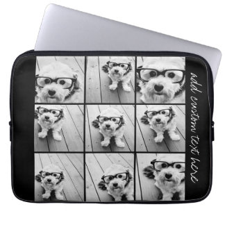 Instagram Photo Collage with 9 square photos Laptop Sleeve