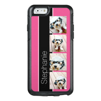 Instagram Photo Collage with Bright Pink and Black OtterBox iPhone 6/6s Case