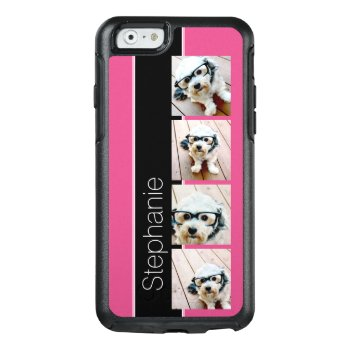 Instagram Photo Collage With Bright Pink And Black Otterbox Iphone 6/6s Case by icases at Zazzle