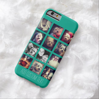 Instagram Photo Collage with Emerald Background Barely There iPhone 6 Case