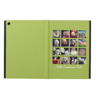 Instagram Photo Collage with lime green background iPad Air Case