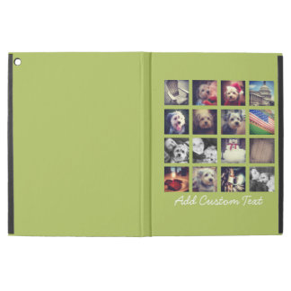 "Instagram Photo Collage with lime green background iPad Pro 12.9"" Case"