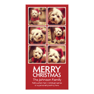 Instagram Photo Collage with Merry Christmas Card
