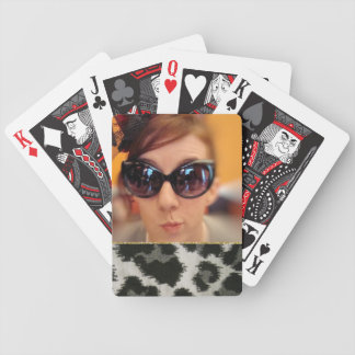 Instagram Photo Custom Girly Hipster Wild Animal Bicycle Playing Cards